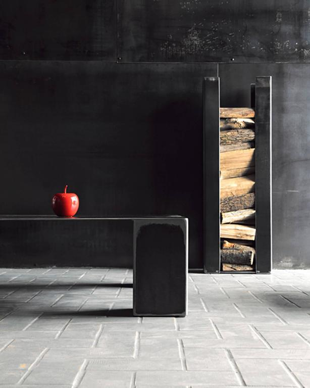 Double Coffee Table in Handcrafted Lacquered Steel 7