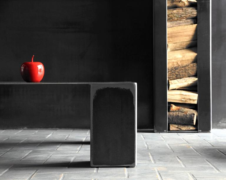 Double Coffee Table in Handcrafted Lacquered Steel 5