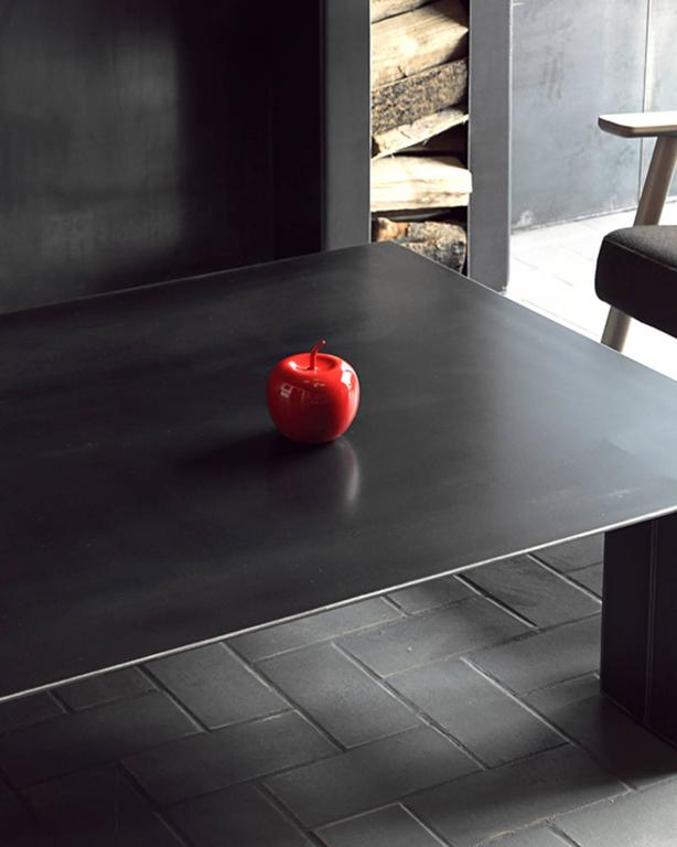 Double Coffee Table in Handcrafted Lacquered Steel 6