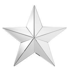 Star Mirror in Mirror Glass