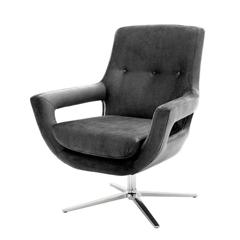 swivel chairs for sale grand office swivel armchair in granite grey fabric for 5964