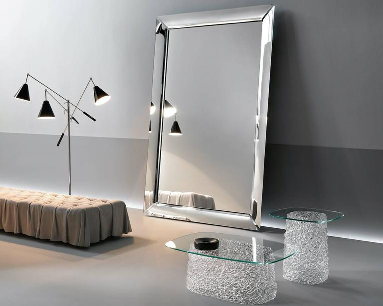 Contemporary Mirror Art Frame Floor or Wall Mirror or TV Mirror Designed by Starck For Sale