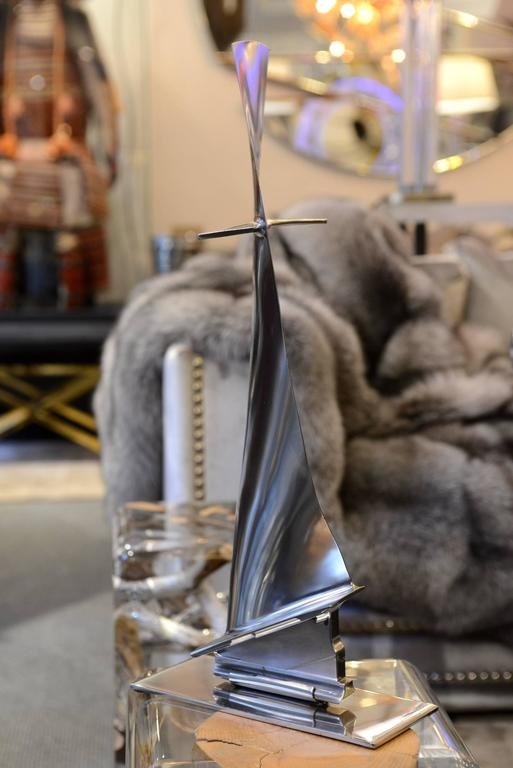 French Fin from Boeing 737 in Titanium Exceptional Piece For Sale