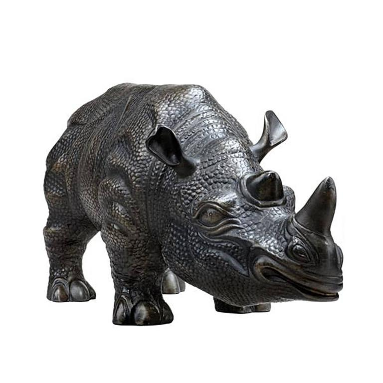 Rhino Set of Two Sculptures in Bronze In Excellent Condition For Sale In Paris, FR