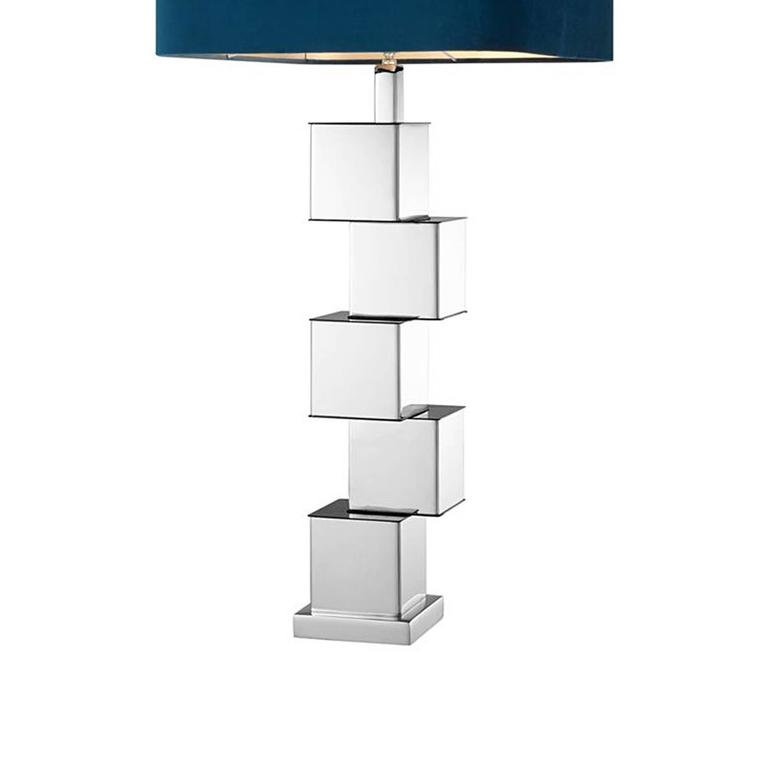 Indian Marina Table Lamp in Nickel Finish For Sale