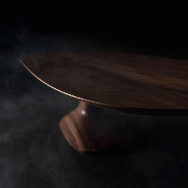 Hand-Crafted Racing Dining Table in Solid Walnut For Sale