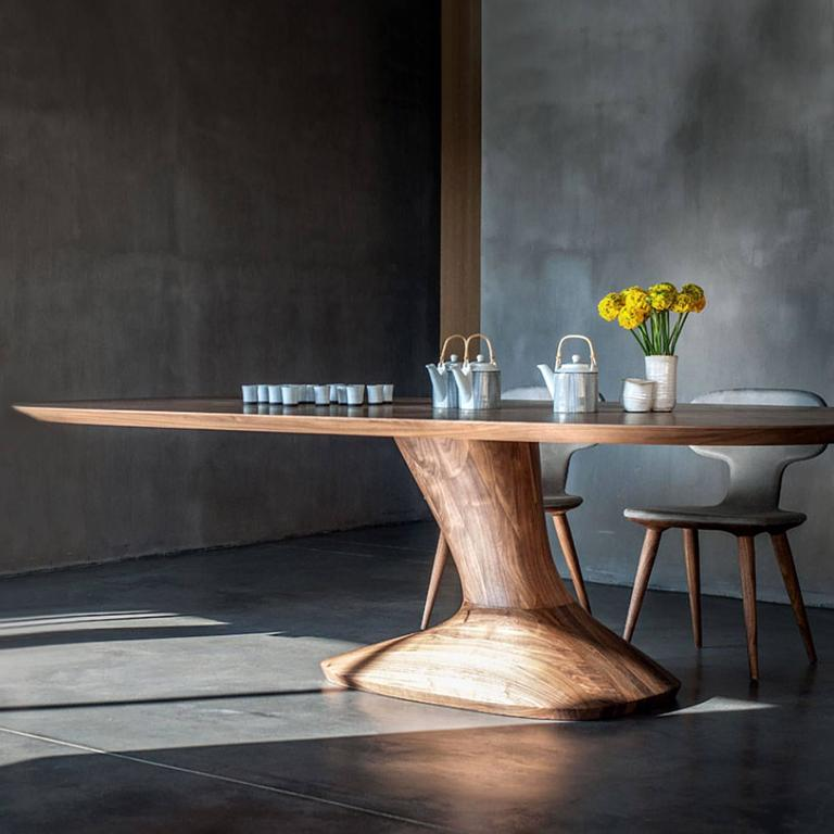 Racing Dining Table in Solid Walnut For Sale 1
