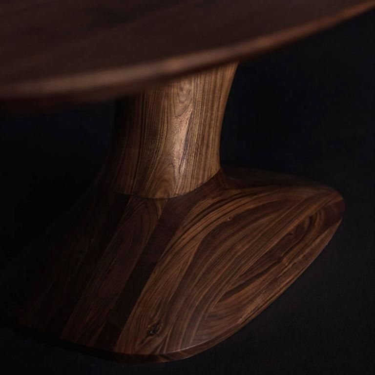 Italian Racing Dining Table in Solid Walnut For Sale