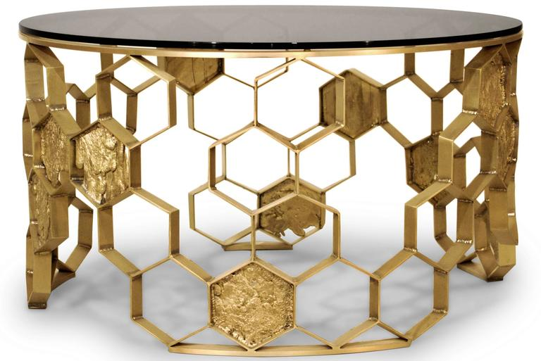 Bee nest coffee table in matte brass finish for sale at 1stdibs portuguese bee nest coffee table in matte brass finish for sale watchthetrailerfo