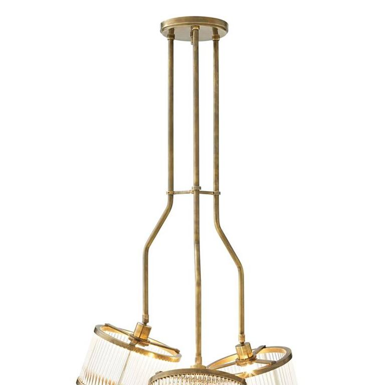 Three stars suspension in vintage brass finish for sale at for Suspension 3 branches