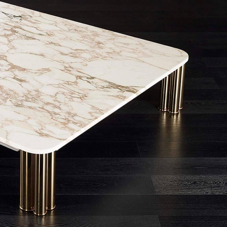 Ambra Coffee Table with Calacatta Oro Marble Top or Other Finishes In Excellent Condition For Sale In Paris, FR