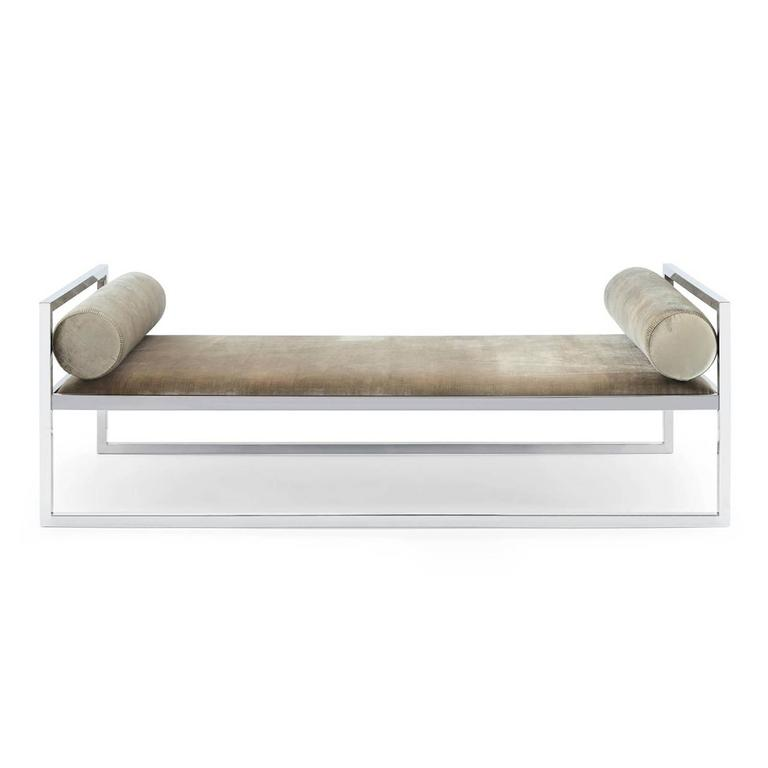 Contemporary Grand Avenue Daybed in Gold Finish For Sale