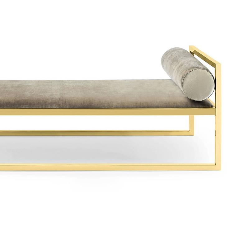 Italian Grand Avenue Daybed in Gold Finish For Sale