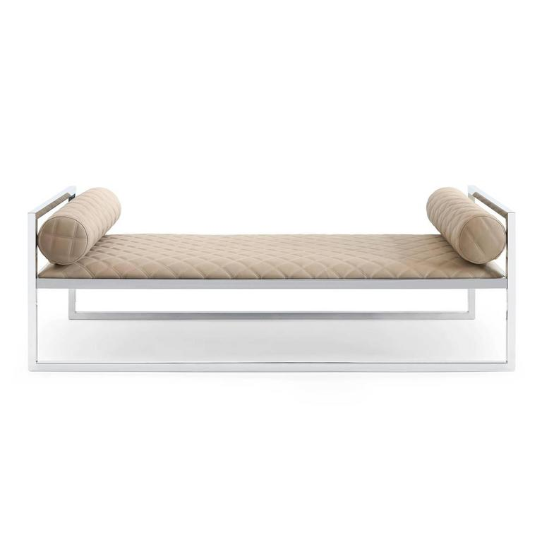 Grand Avenue Daybed in Gold Finish For Sale 1