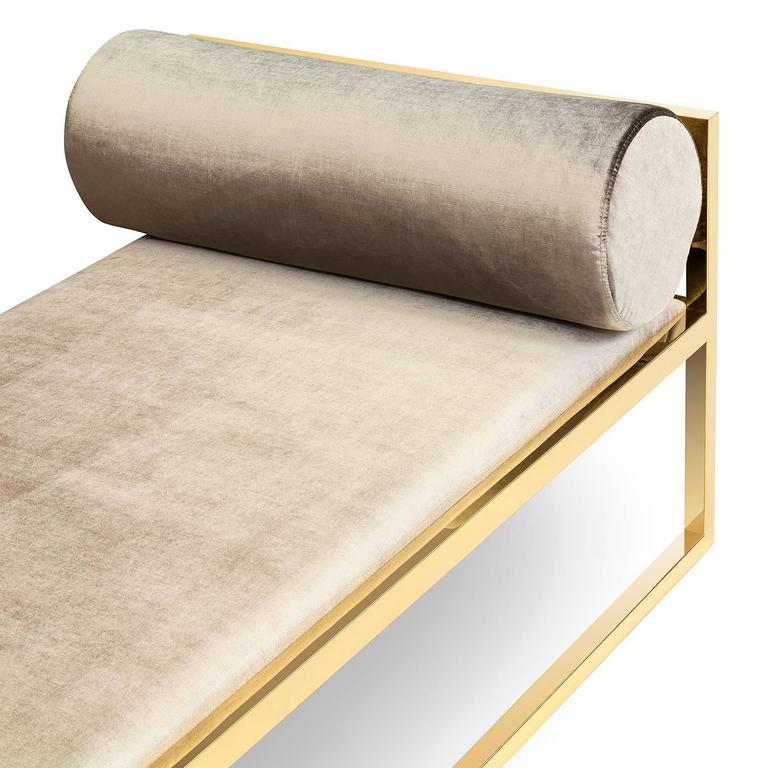 Hand-Crafted Grand Avenue Daybed in Gold Finish For Sale