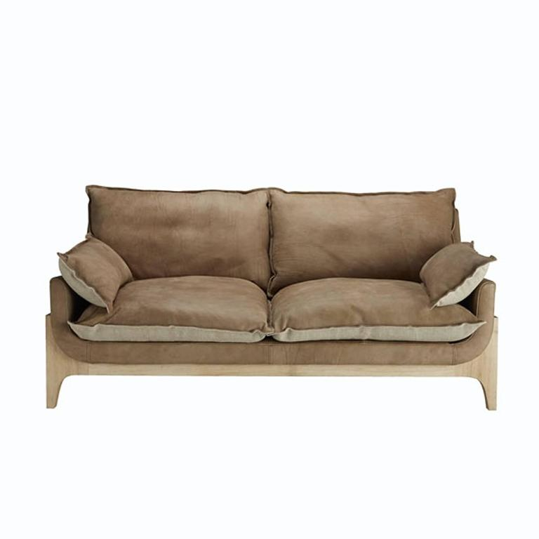 Good Quality Leather Sofa: Indiana Sofa High Quality Genuine Leather And Linen At 1stdibs
