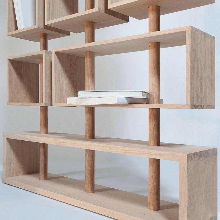 Adjustable Bookcase in Solid French Raw Oak 5