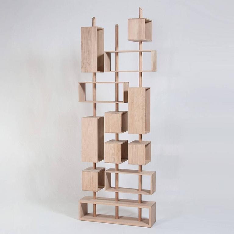 Adjustable Bookcase in Solid French Raw Oak 3