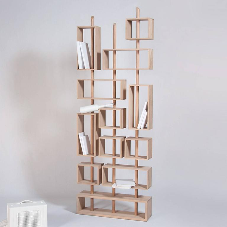 Adjustable Bookcase in Solid French Raw Oak 4