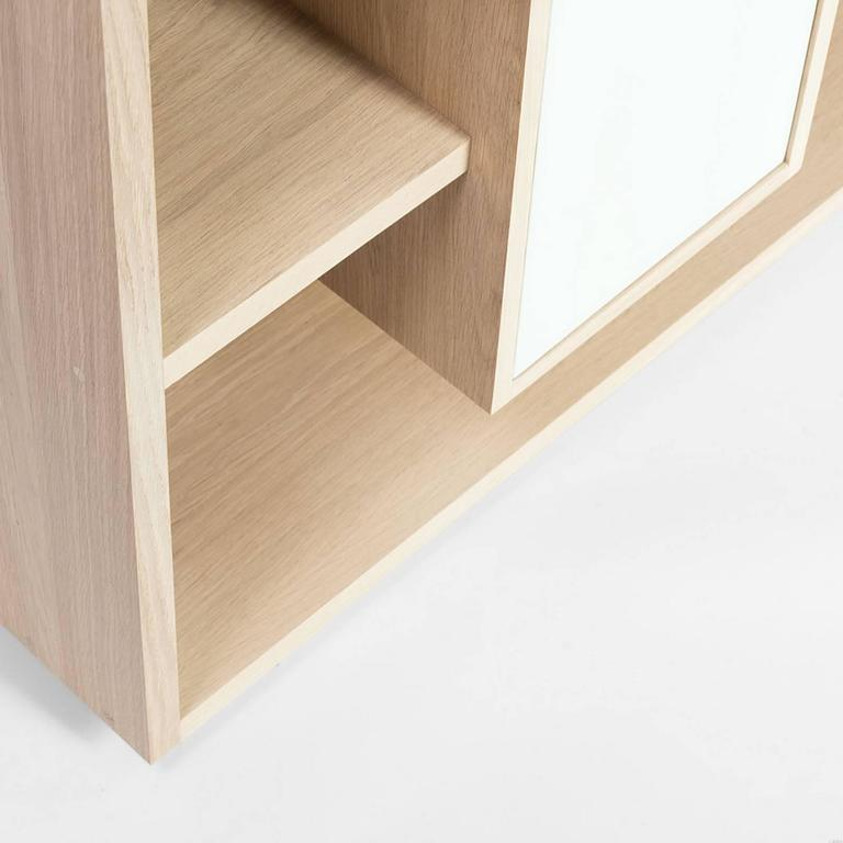 Functional Shelve in Solid French Raw Oak For Sale 2