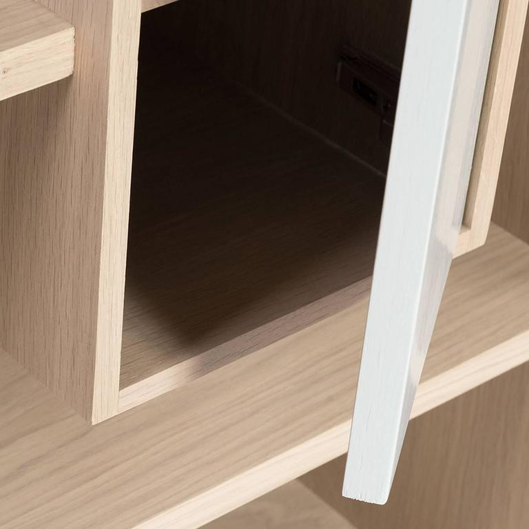 Functional Shelve in Solid French Raw Oak For Sale 3