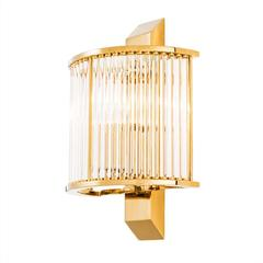 Grand Corridor Wall Lamp in Gold Finish or Polished Stainless Steel