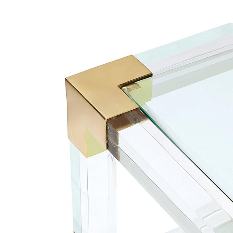 Highlight Coffee Table With Acrylic Glass And Gold Finish
