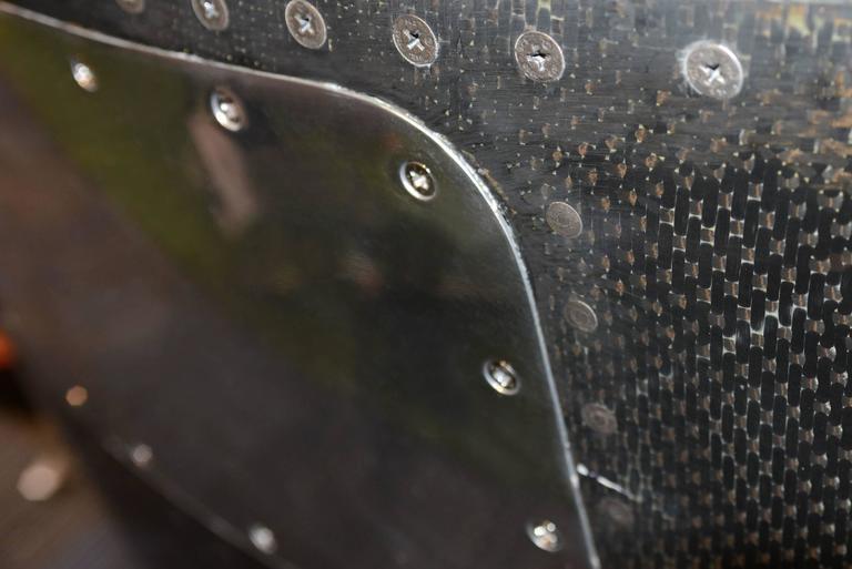 Aircraft Carbon Desk Pratt & Whitney JT8D Reactor In Excellent Condition For Sale In Paris, FR