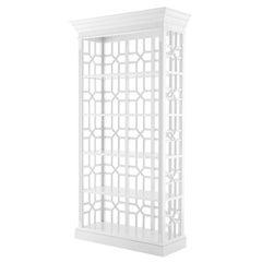 Otello White Cabinet in Solid Mahogany Wood White Finish