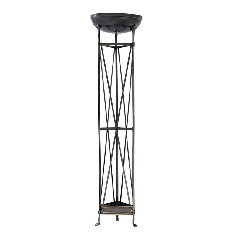 Axel Floor Lamp in Antique Silver Plated or Bronze Finish For Sale 1