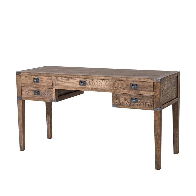 GI Desk in Oak Smoked Finish or Black or Antique Oak Finish For Sale