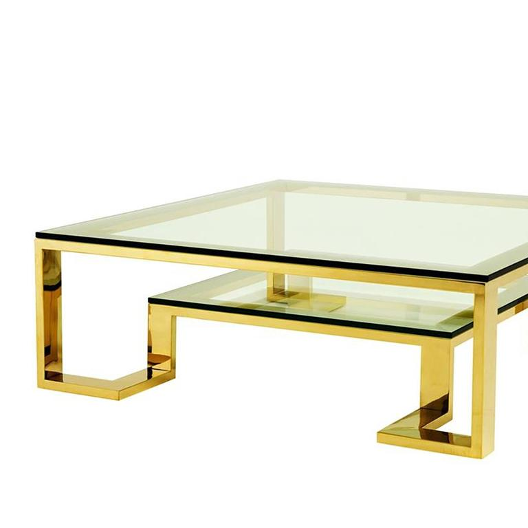Wishper Coffee Table In Gold Finish For Sale At 1stdibs