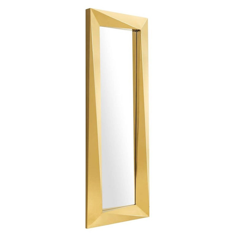 Axis Mirror in Gold Finish or in Polished Stainless Steel