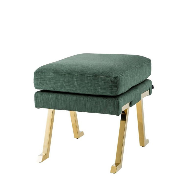 Barney Stool In Albin Green Fabric For Sale At 1stdibs