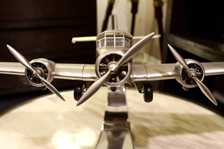 English Junker JU-52 Aircraft Reduced Model Scale Model, 1932 For Sale