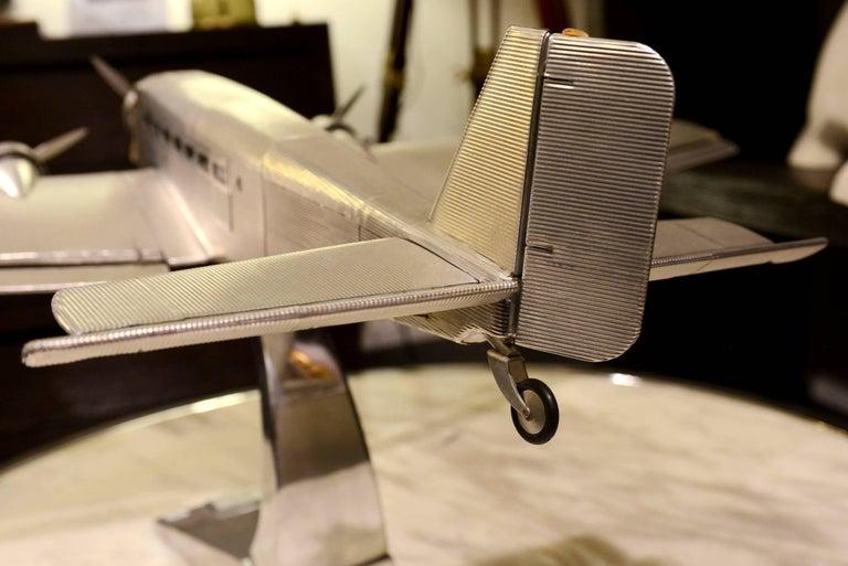 Aluminum Junker JU-52 Aircraft Reduced Model Scale Model, 1932 For Sale