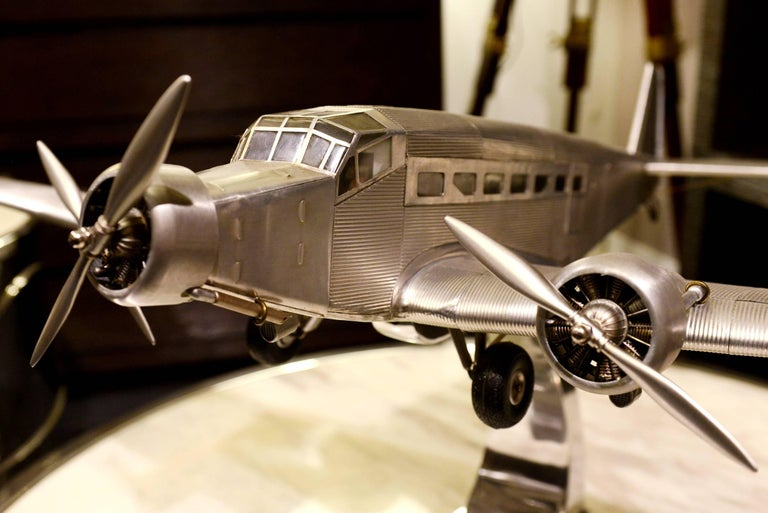 Hand-Crafted Junker JU-52 Aircraft Reduced Model Scale Model, 1932 For Sale