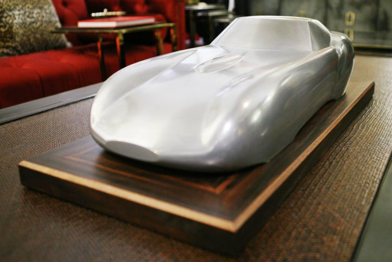 Ferrari 250 GTO Sculpture in Cold Casted Aluminum on Ebony Base 4