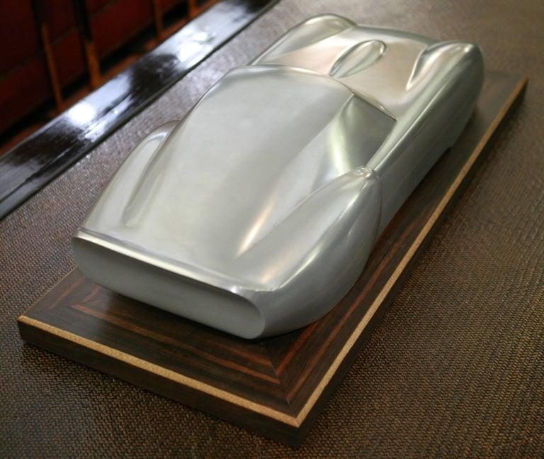 Contemporary Ferrari 250 GTO Sculpture in Cold Casted Aluminum on Ebony Base