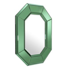 Serada Mirror in Green Mirror Glass or Clear Mirror Glass