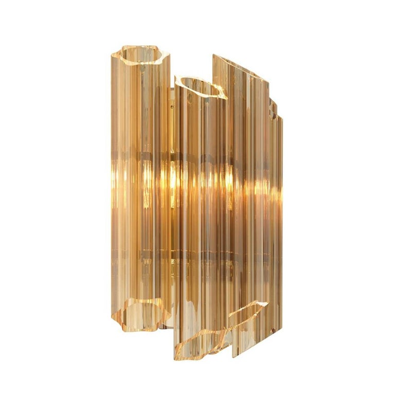 Gold Glass Wall Lights : Vitta Gold Wall Lamp in Gold Glass and Gold Finish For Sale at 1stdibs
