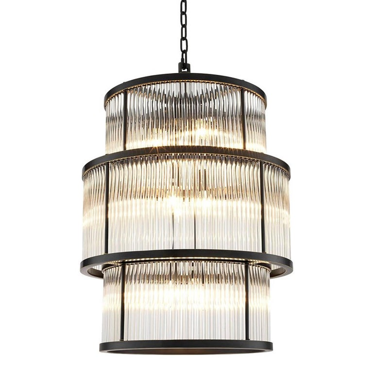 Derone Extra Large Chandelier In Bronze Highlight Or Nickel Finish For