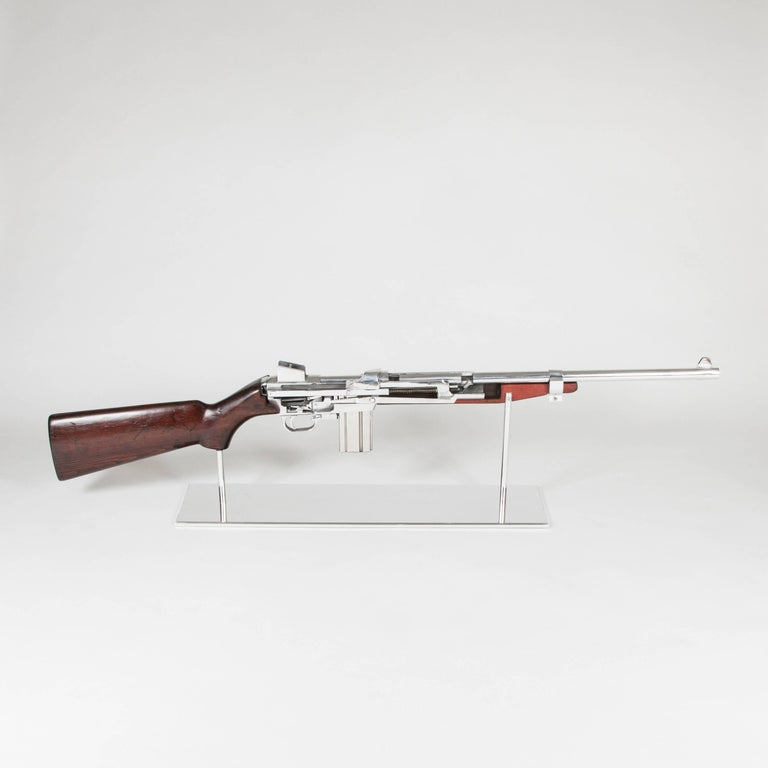 Model Art M1 Rifle automathic and semi-automathic Demonstration made  circa 1940 in United-States. (BAR: Browning Automatic Rifle) Training model  to train military in the use of this rifle. Double life-size model with exactly  same function of the
