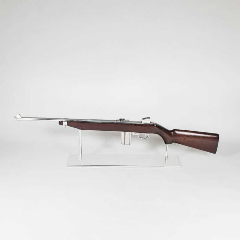Art M1 Rifle Demonstration Model 1940 in Polished Finish In Excellent Condition For Sale In Paris, FR