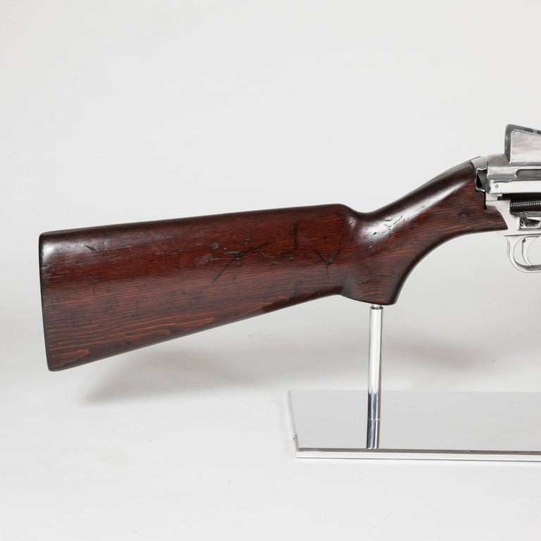 Stainless Steel Art M1 Rifle Demonstration Model 1940 in Polished Finish For Sale
