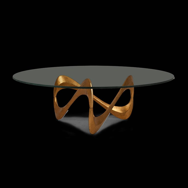 English Enlaced Coffee Table in Oro Nero Finish For Sale