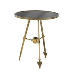 Cupidon Side Table in Antique Brass or Antique Silver Finish