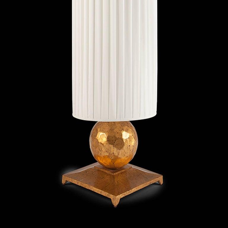 Contemporary Turner Table Lamp in Oro Nero Gold Finish For Sale