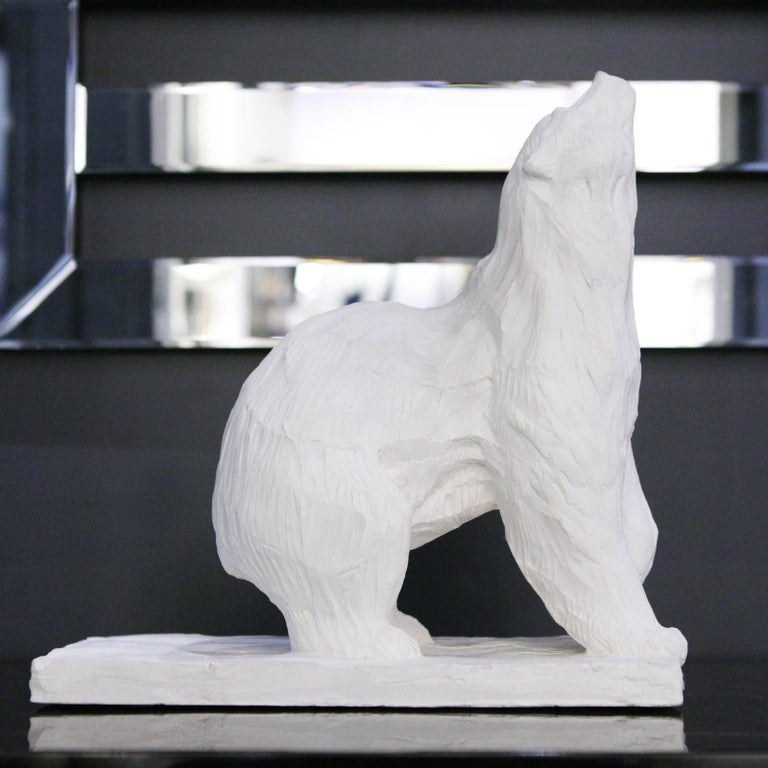French Sculpture Bear in Plaster Limited Edition 60/100 by J.B Vandame, 2015 For Sale
