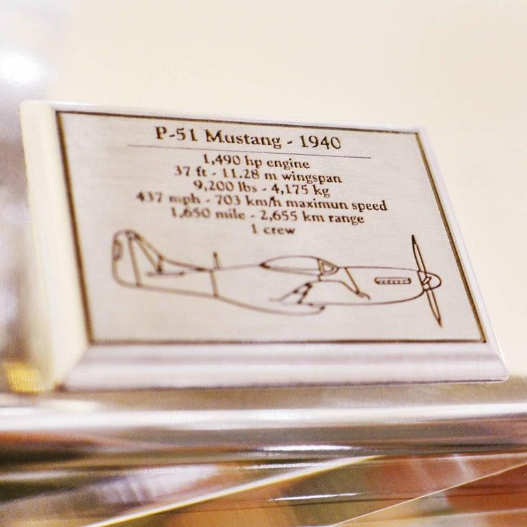 Mustang P51 Aircraft Model in Aluminium Foil For Sale 3